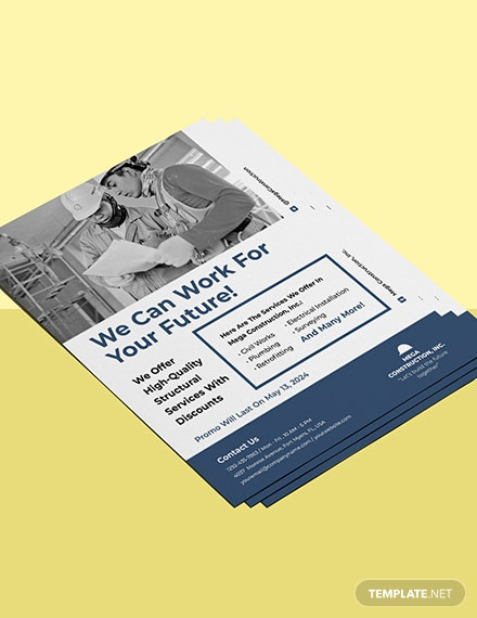 construction promotional flyer template Format
