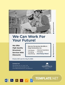 Construction Promotional Flyer Template