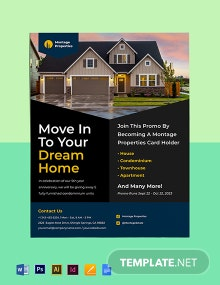 Residential Construction Marketing Flyer Template