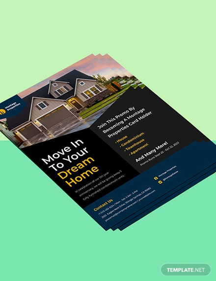 Residential Construction Marketing Flyer template Format