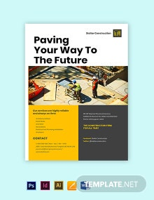 Construction Service Promotional Flyer Template