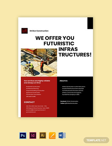 Construction Firm Marketing Flyer Template