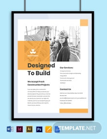 Free Simple Construction Advertisement Flyer Template