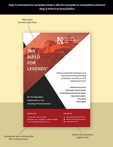 Construction Service Flyer Template Format