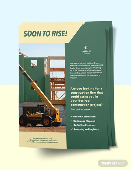 Construction Project Marketing Flyer sample