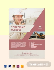 Construction Offered Marketing Flyer Template