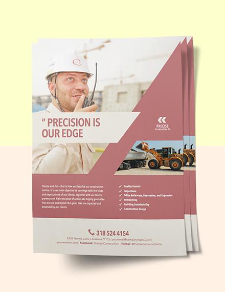 Construction Offered Marketing Flyer sample