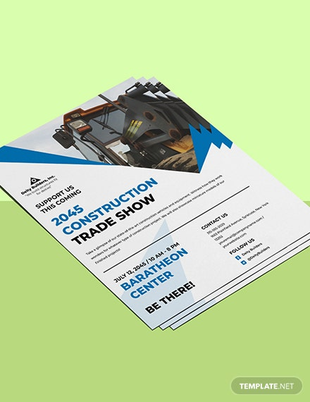 Construction Trade Shows Flyer Template Format