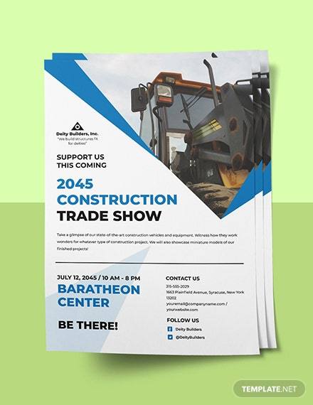 Construction Trade Shows Flyer Template Instruction