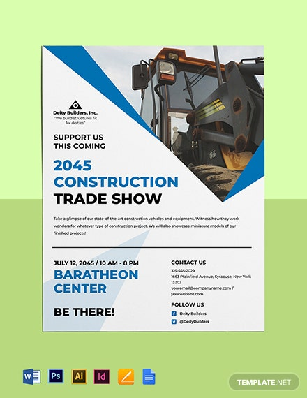 Construction Trade Shows Flyer Template