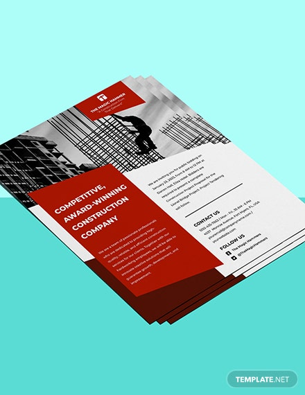 Construction Tender Flyer Template Format