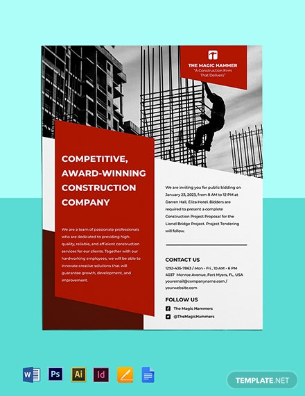 Construction Tender Flyer Template