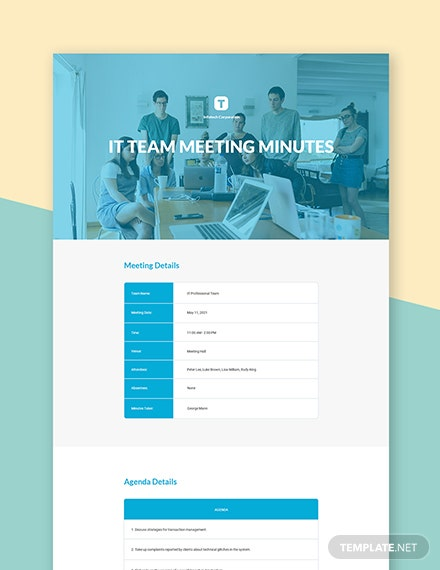 IT Team Meeting Minutes Template