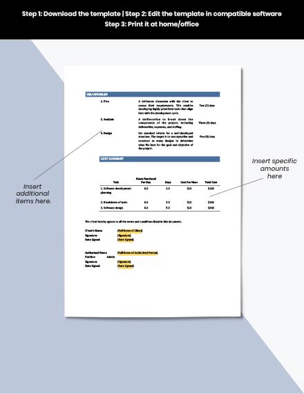 Software Development Statement of Work Template example