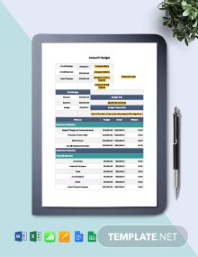Free Simple Annual IT Budget Template