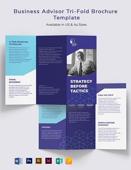 Business Advisor TriFold Brochure Template