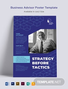 Business Advisor Poster Template
