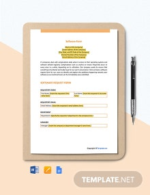 Free Software Form Template