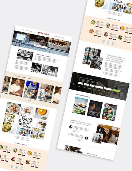 Minimal Restaurant WordPress Theme Format