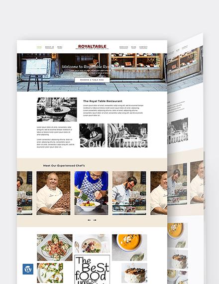 Minimal Restaurant WordPress Theme/Template
