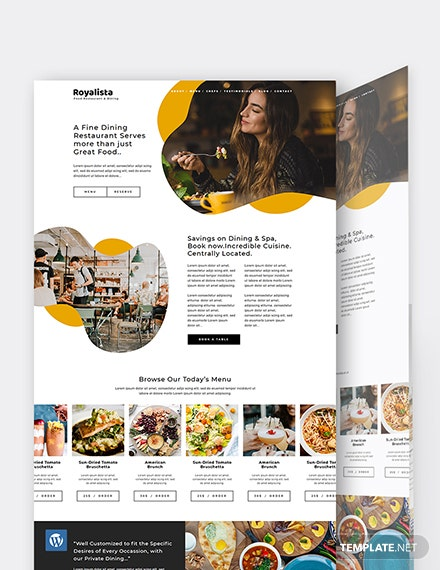 Food Restaurant WordPress Theme/Template