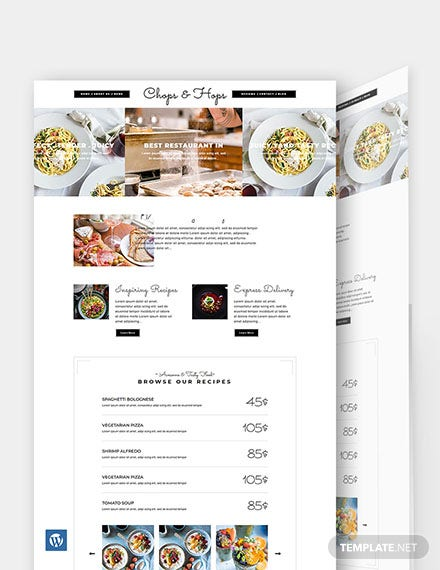 Creative Restaurant WordPress Theme/Template