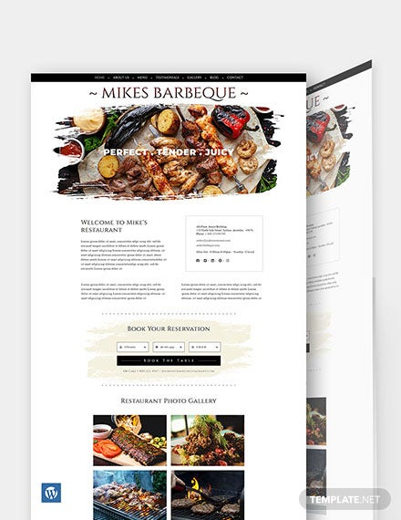 BBQ Restaurant WordPress Theme/Template
