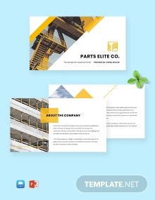 Free Professional Construction Company Profile Template