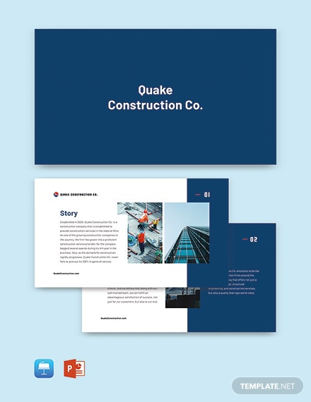 Free Modern Construction Company Profile Template