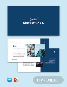 Modern Construction Company Profile Template
