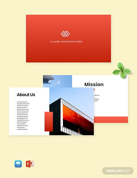 Free Construction Profile Templates Microsoft Powerpoint Ppt Template Net
