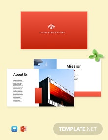 Creative Construction Company Profile Template