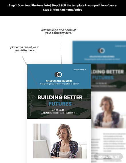 Free Modern Technology Newsletter Format