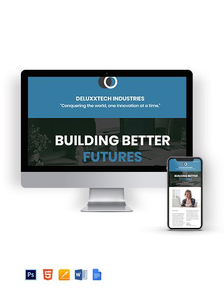 Free Modern Technology Newsletter Template