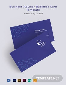 Business Advisor Business Card Template
