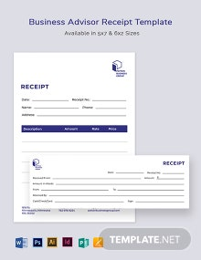 Business Advisor Receipt Template