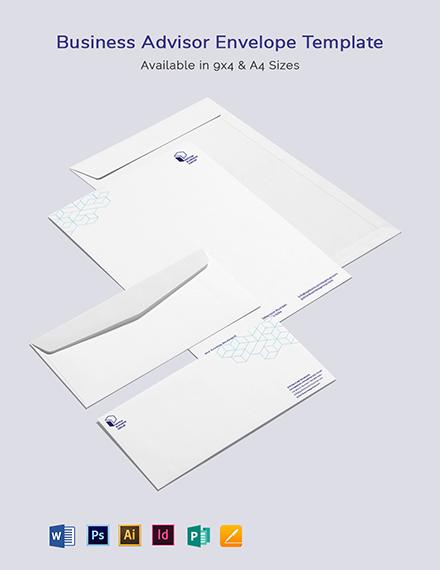 Business Advisor Envelope Template