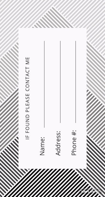 Free Luggage Tag Template