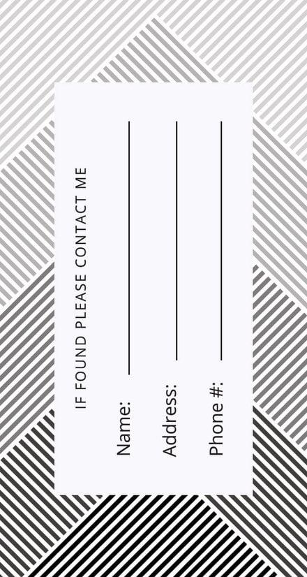 free luggage tag template in adobe photoshop microsoft word