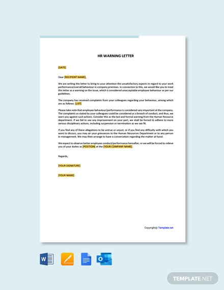 Free HR Warning Letter Template