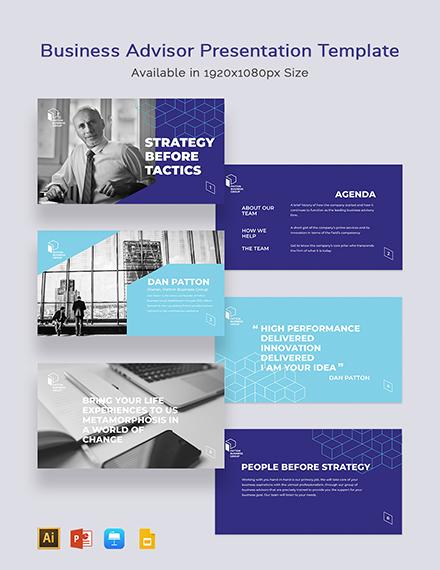 Business Advisor Presentation Template
