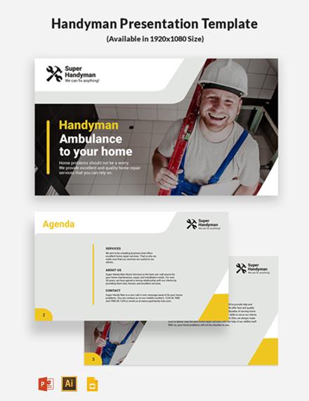 Handyman Presentation Template