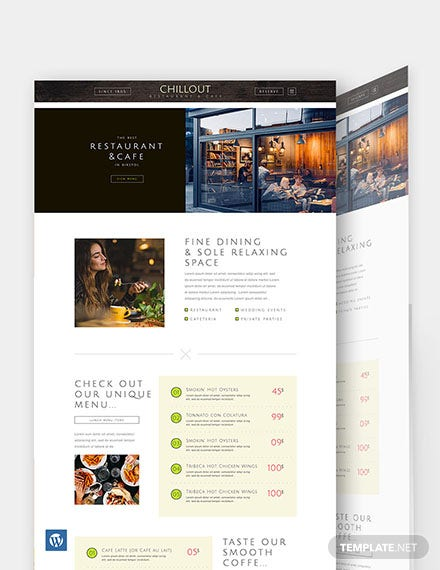 Restaurant WordPress Theme/Template