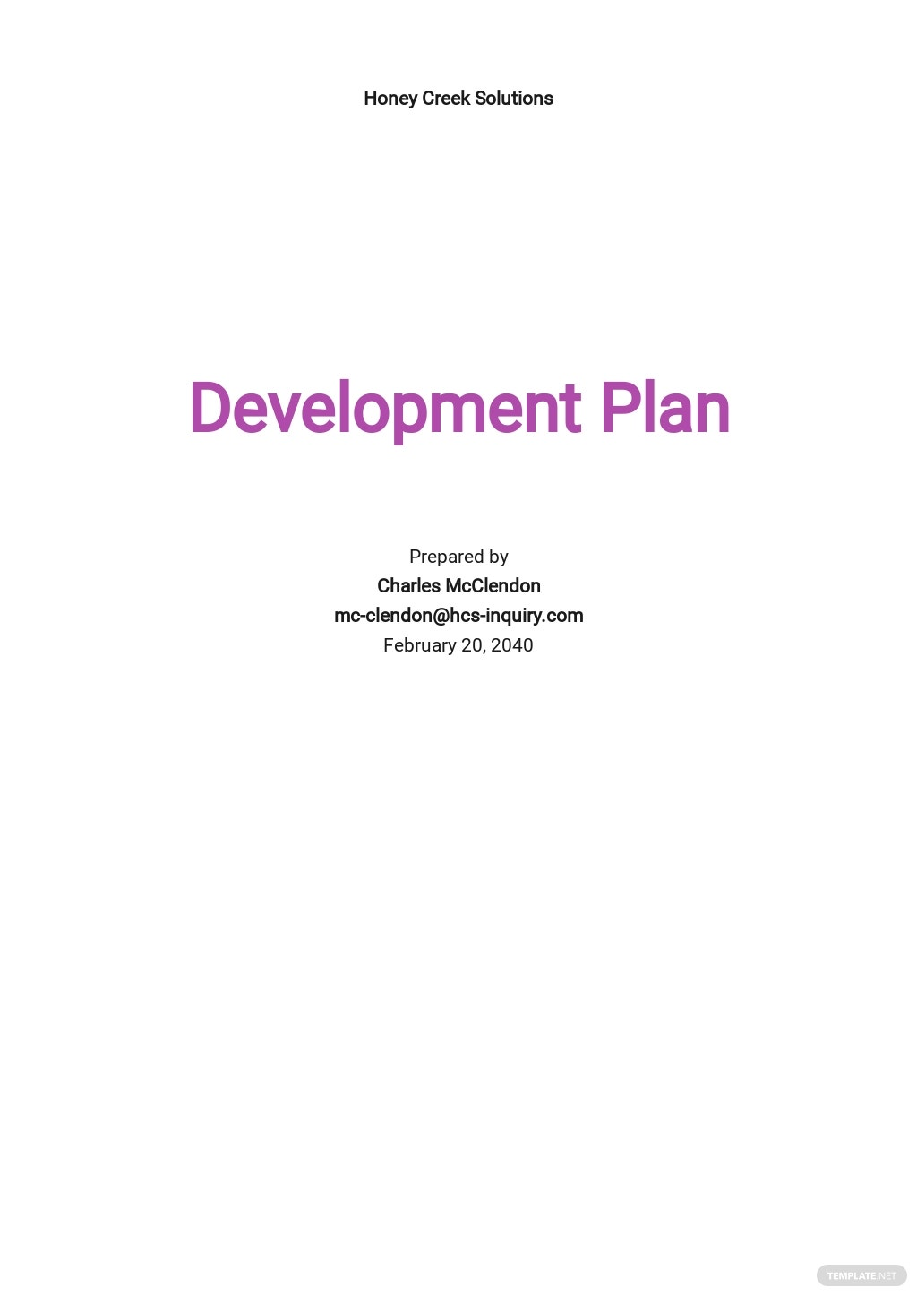 HR Change Management Plan Template