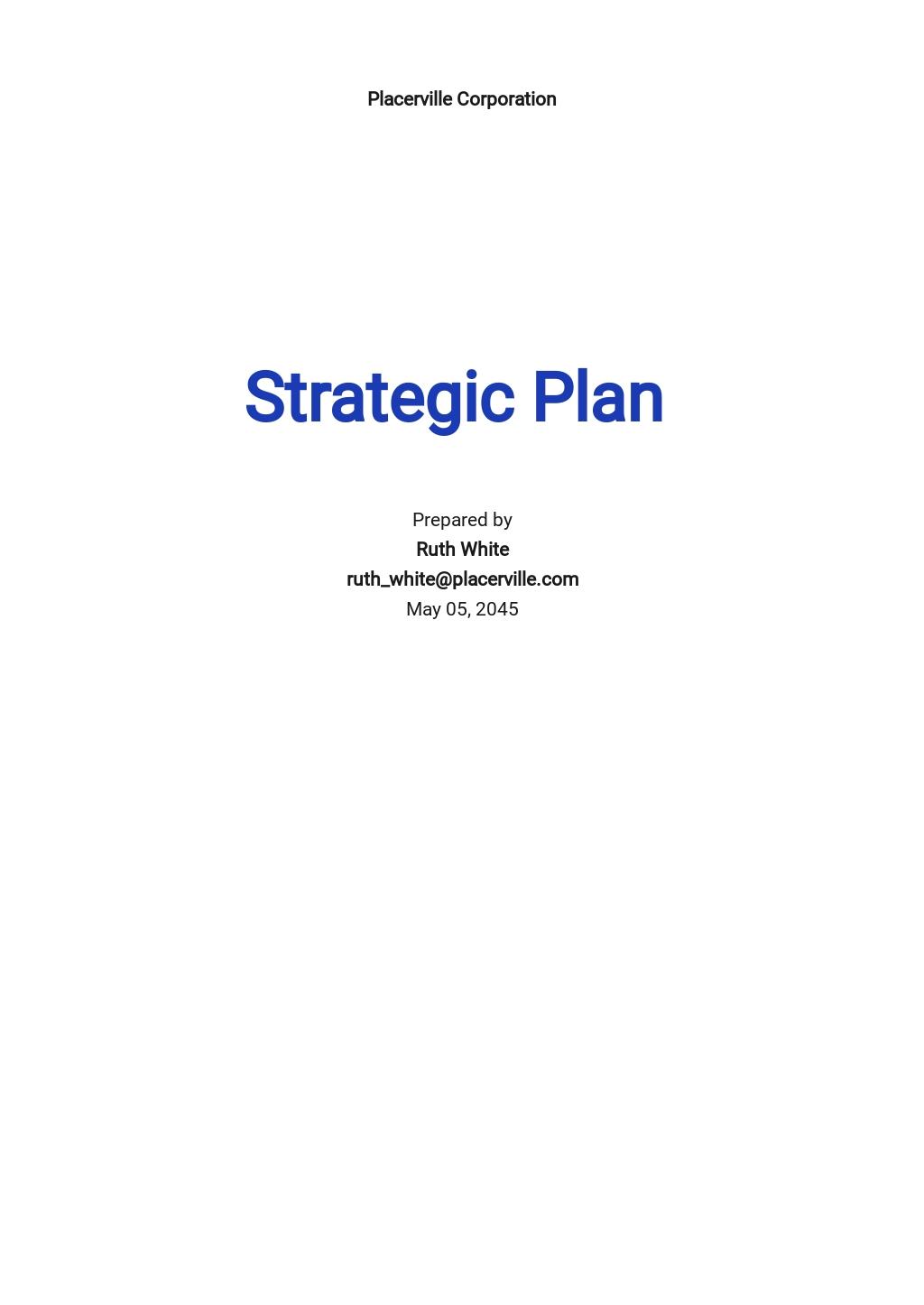 HR Contingency Plan Template