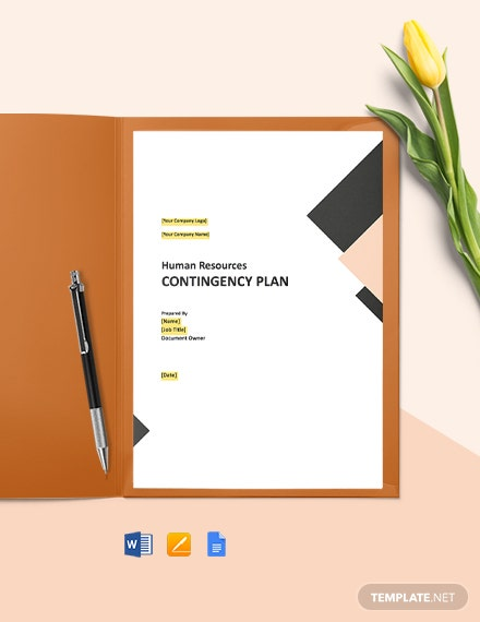 HR Contingency Plan Template