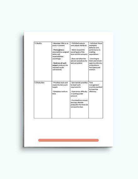 Performance Improvement Plan format