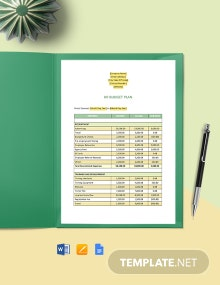 HR Budget Plan Template