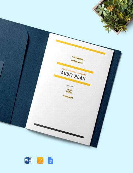 Audit Plan Template