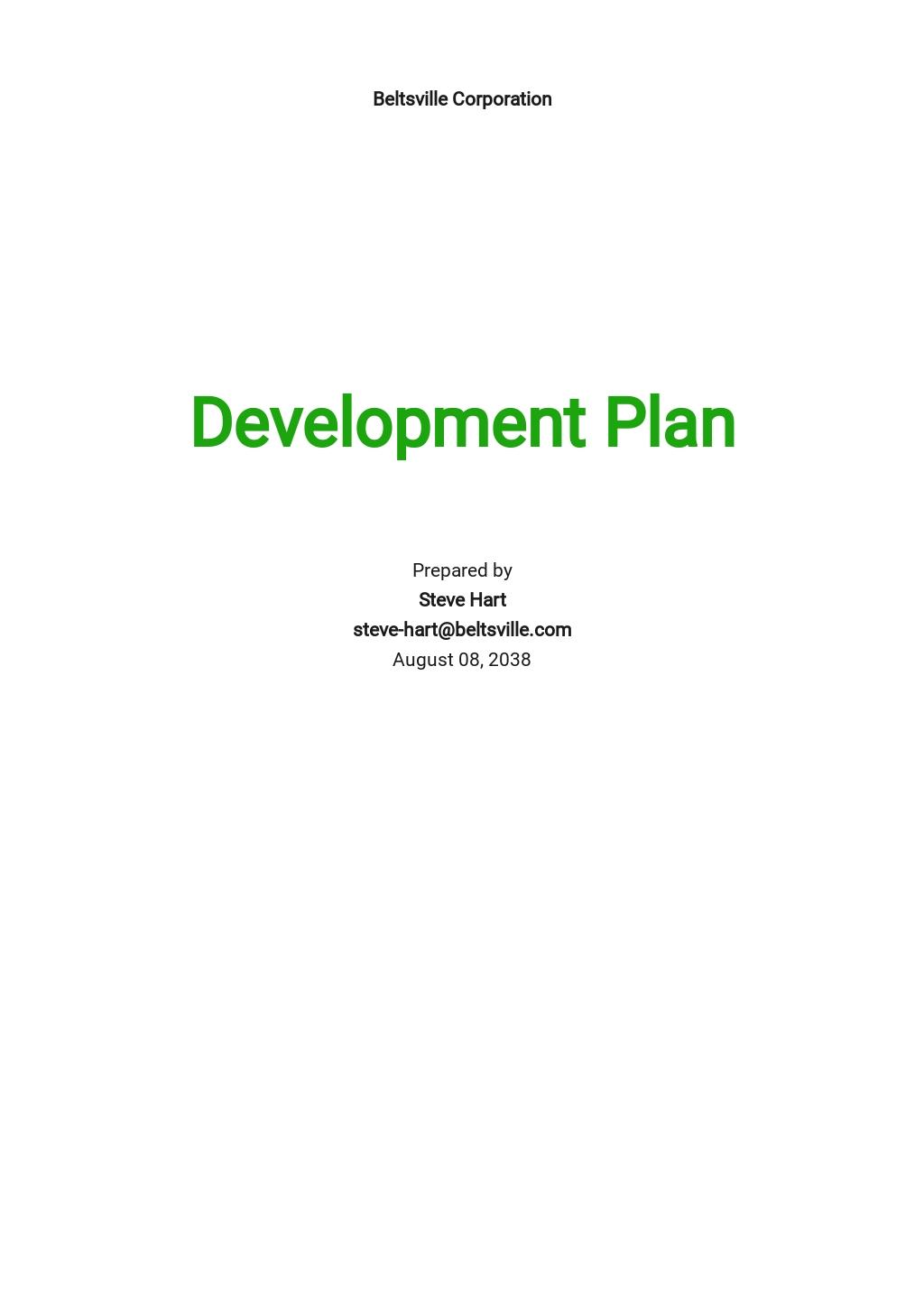 HR Department Plan Template